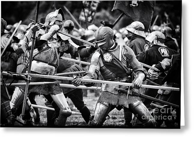 War Of The Roses Medieval Knights  Greeting Card by Tim Gainey