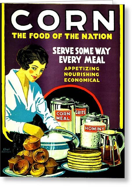 War Poster - Ww2 - Corn Greeting Card