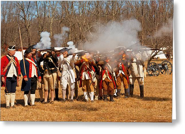 War - Revolutionary War - The Musket Drill Greeting Card