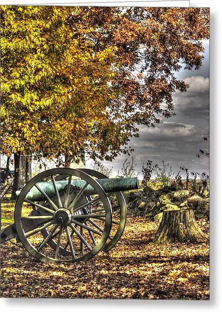 Greeting Card featuring the photograph War Thunder - Aonv The Purcell Artillery Mcgraw's Battery-a1 West Confederate Ave Gettysburg by Michael Mazaika