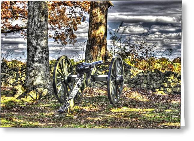 Greeting Card featuring the photograph War Thunder - Lane's Battalion Ross's Battery-b2 West Confederate Ave Gettysburg by Michael Mazaika