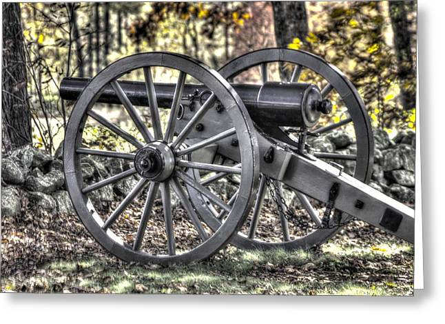 Greeting Card featuring the photograph War Thunder - The Albemarle Va Artillery Wyatt's Battery-b1 West Confederate Ave Gettysburg by Michael Mazaika