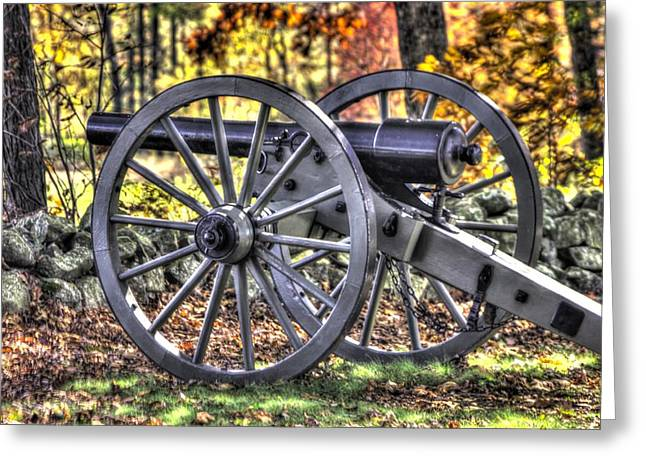 Greeting Card featuring the photograph War Thunder - The Albemarle Va Artillery Wyatt's Battery-b2 West Confederate Ave Gettysburg by Michael Mazaika