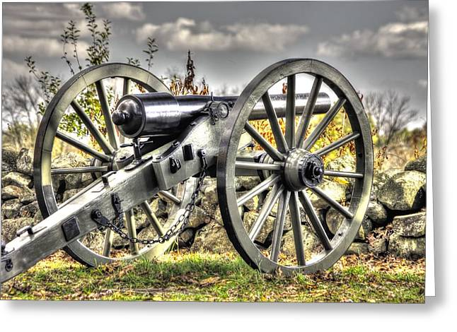 Greeting Card featuring the photograph War Thunder - The Letcher Artillery Brander's Battery West Confederate Ave Gettysburg by Michael Mazaika