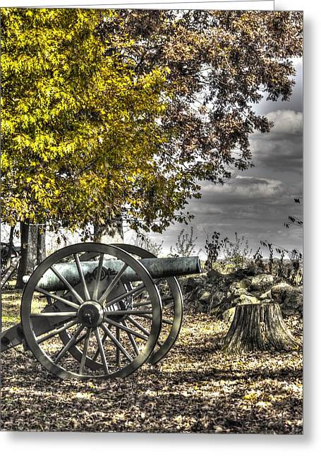 Greeting Card featuring the photograph War Thunder - The Purcell Artillery Mc Graw's Battery-a2 West Confederate Ave Gettysburg by Michael Mazaika