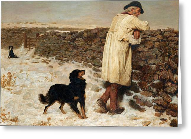 War Time Greeting Card by Briton Riviere