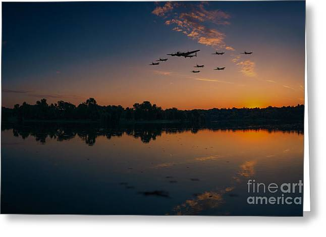 Warbird Reflections  Greeting Card by J Biggadike