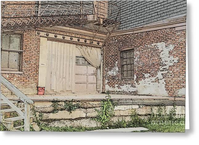 Warehouse Dock Greeting Card