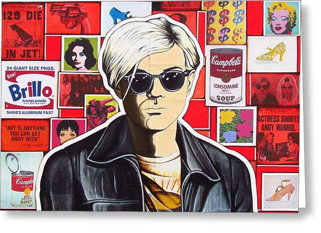Warhol Greeting Card by Joseph Sonday