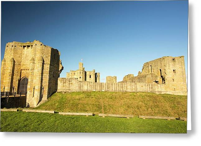 Warkworth Castle In Northumberland Greeting Card by Ashley Cooper