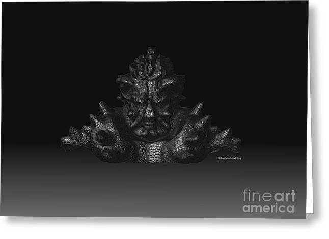 Greeting Card featuring the sculpture Warlord by R Muirhead Art