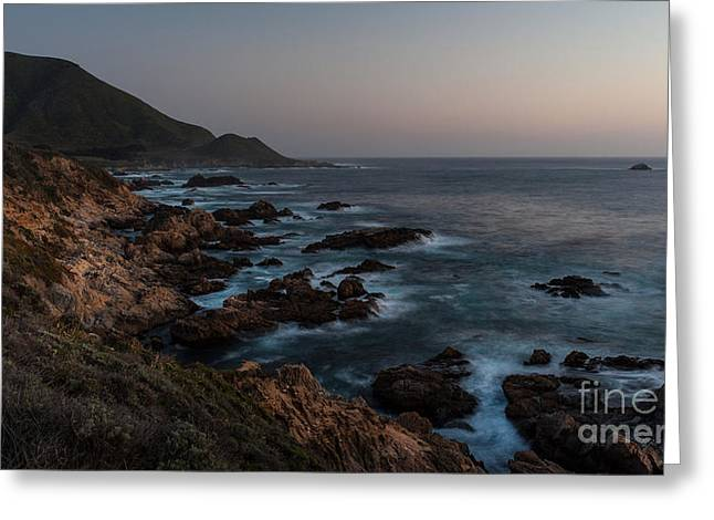 Warm California Evening Greeting Card by Mike Reid