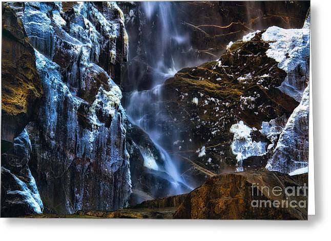 Warm Cold Water And Ice Greeting Card by Anthony Bonafede