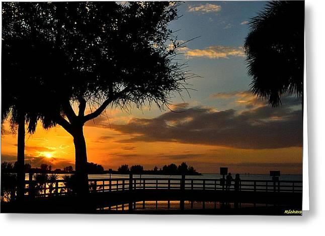 Warm Glowing Sunset Greeting Card