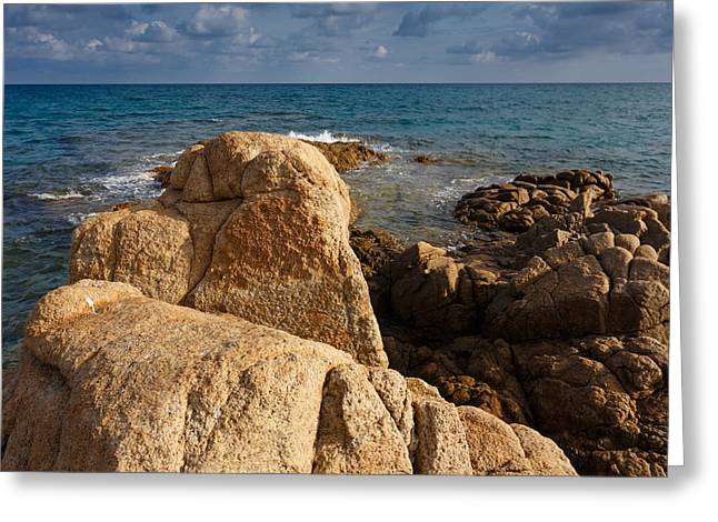 Greeting Card featuring the photograph Warm Granite by Paul Indigo