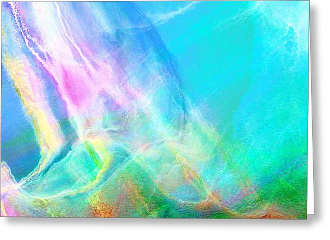 Warm Seas- Abstract Art Greeting Card
