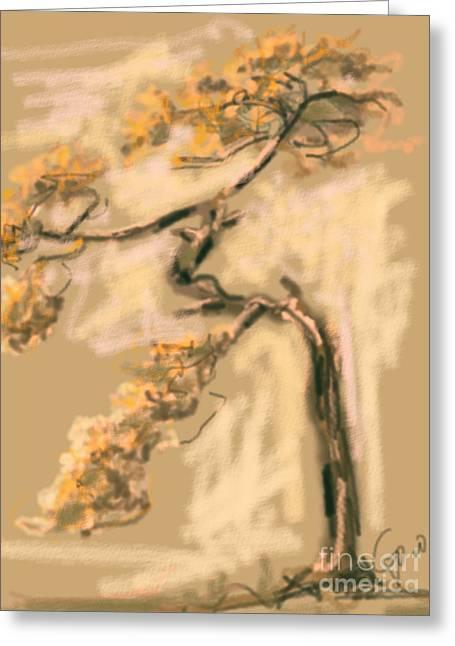 Warm Tree Greeting Card by Go Van Kampen