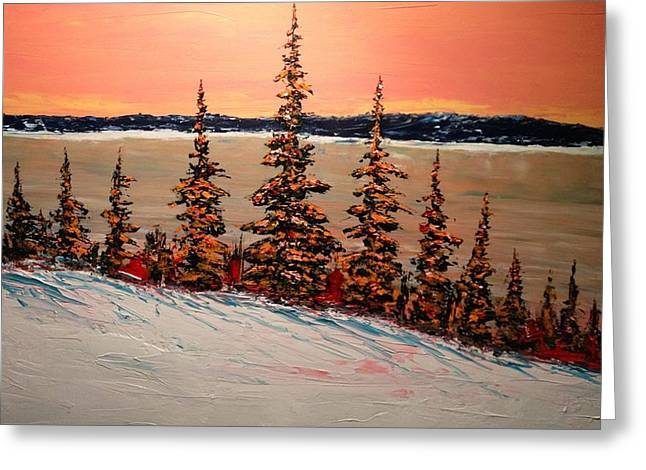 Warm Winter Sky Up North Greeting Card