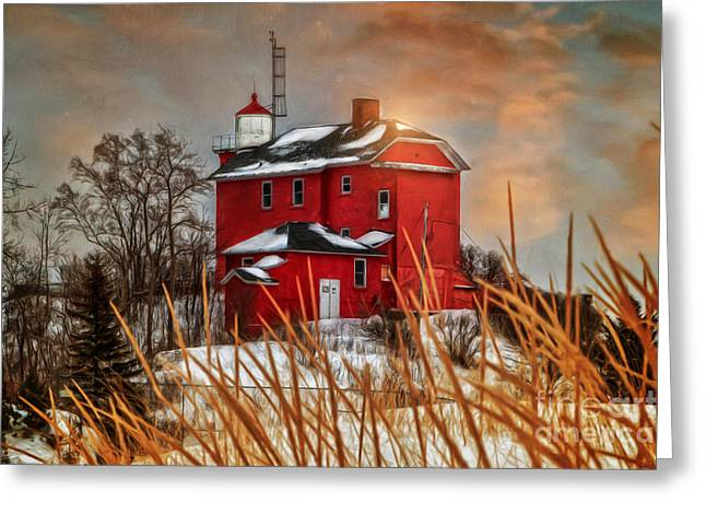 Warming By The Sun Greeting Card by Upper Peninsula Photography