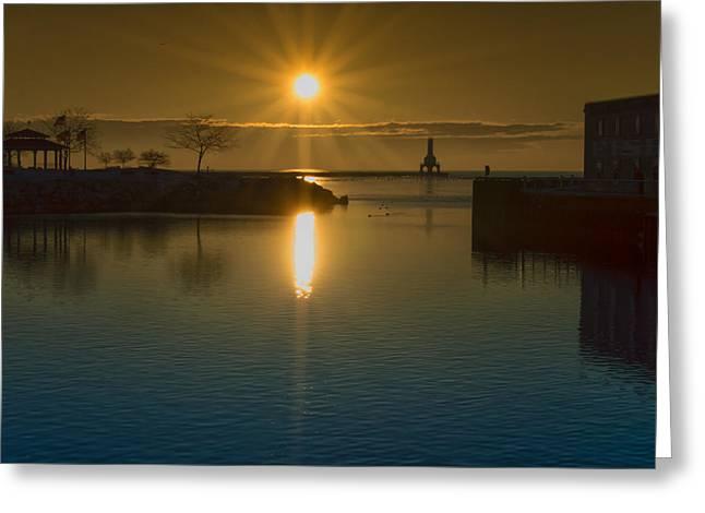 Warming Sun Greeting Card by James  Meyer