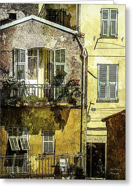 Warmth Of Old Villefranche Greeting Card by Julie Palencia