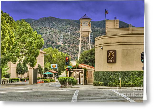 Warner Bros.  Burbank Ca  Greeting Card by David Zanzinger
