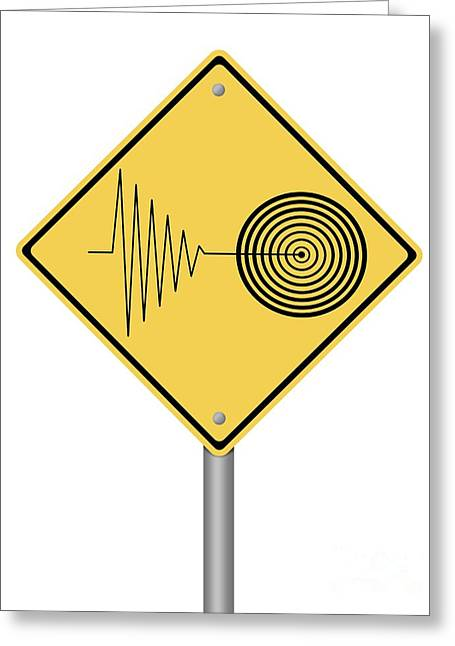 Warning Sign Tremor Greeting Card