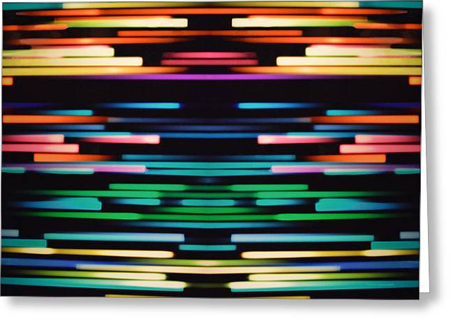 Warp Speed Abstract Center Panel Greeting Card