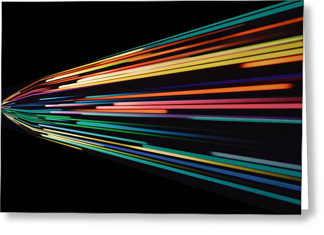 Warp Speed Abstract Left Panel Greeting Card