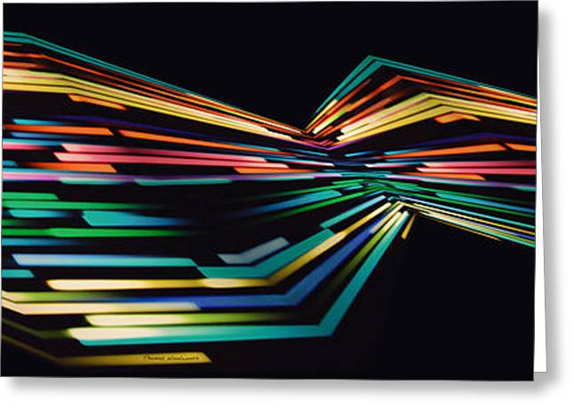 Warp Speed Abstract Panorama Greeting Card