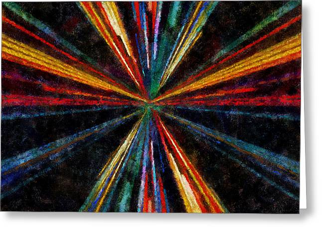 Warp Speed Abstract Pilots View Greeting Card