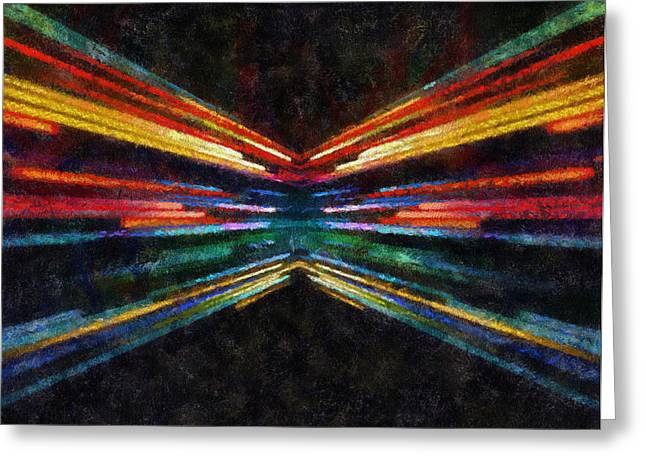 Warp Speed Abstract Rear Camera View Greeting Card