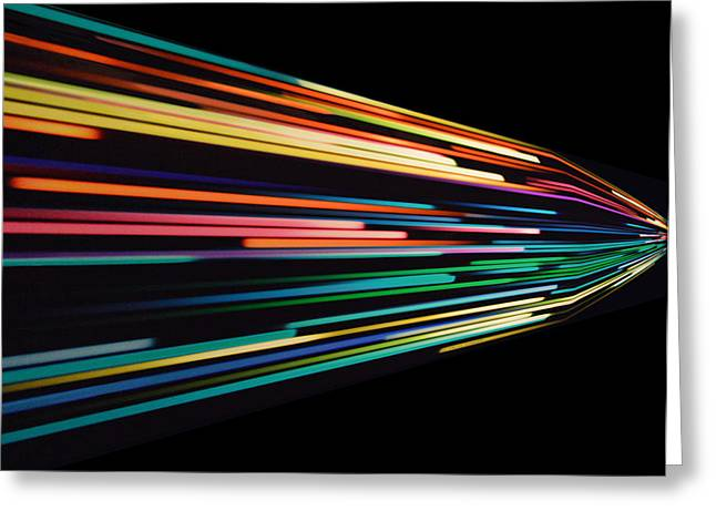 Warp Speed Abstract Right Panel Greeting Card