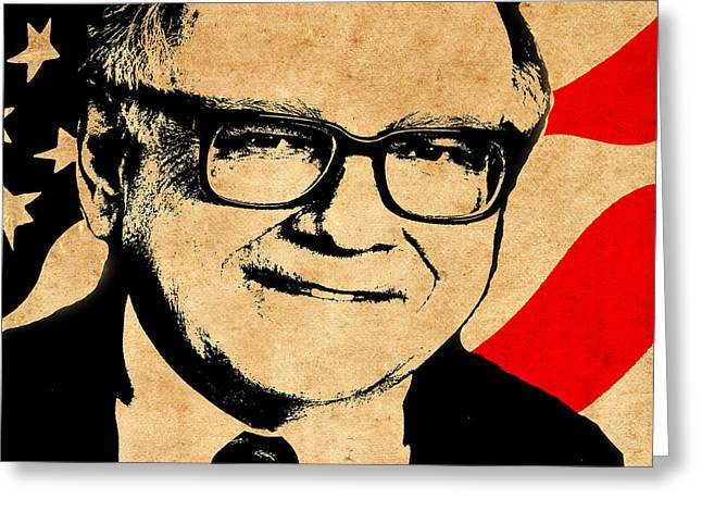 Warren Buffett Greeting Card by Andrew Fare