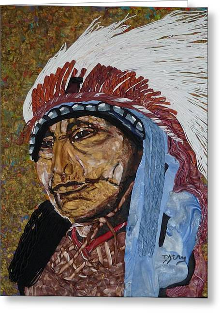 Warrior Chief Greeting Card