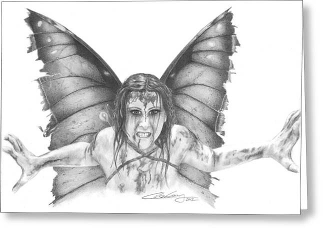 Warrior Fairy Greeting Card by Carolee Conway