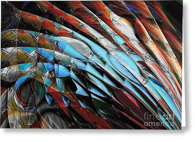 Greeting Card featuring the digital art Warrior by Margie Chapman
