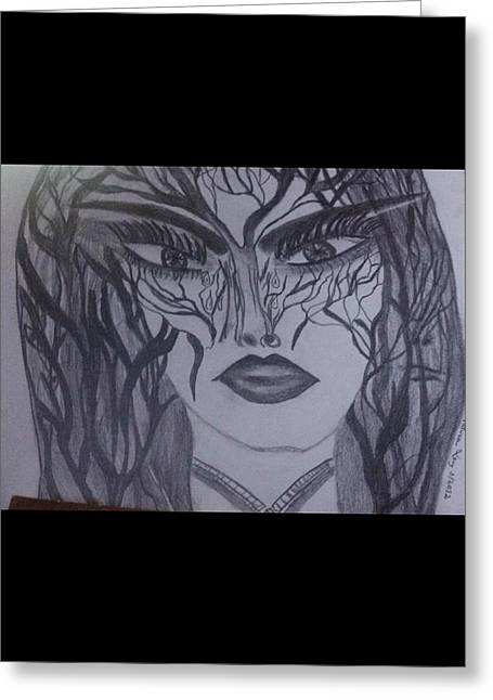 Warrior Princess Greeting Card by Patricia Levy