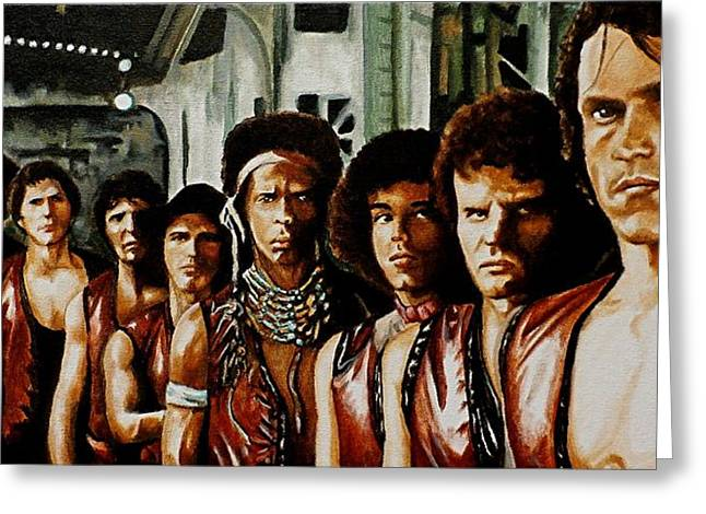 Warriors Come Out To Play Greeting Card by Al  Molina