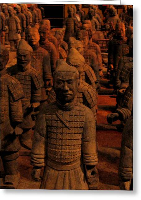 Greeting Card featuring the photograph Warriors by Patricia Januszkiewicz