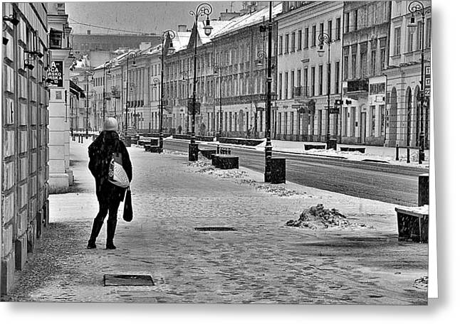 Warsaw 1 Greeting Card by Steven Richman