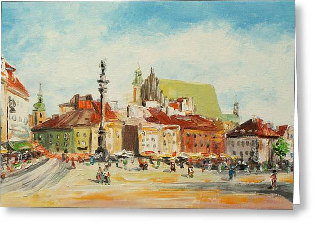Warsaw- Castle Square Greeting Card