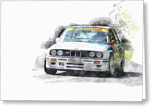 Warsteiner Bmw M3 Greeting Card by Roger Lighterness