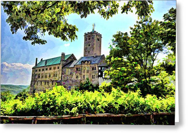 Greeting Card featuring the photograph Wartburg Castle - Eisenach Germany - 1 by Mark Madere