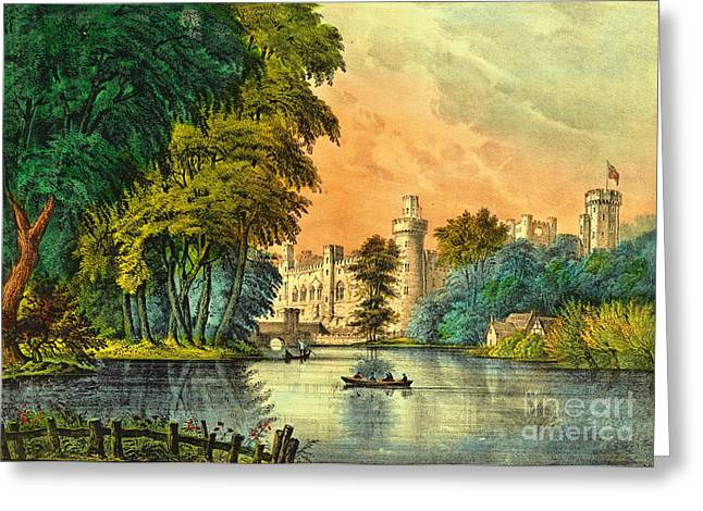 Warwick Castle 1856 Greeting Card by Padre Art
