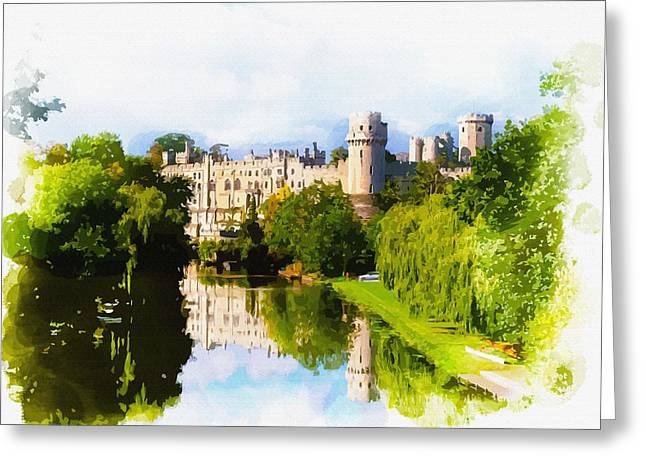 Warwick Castle Greeting Card by Don Kuing