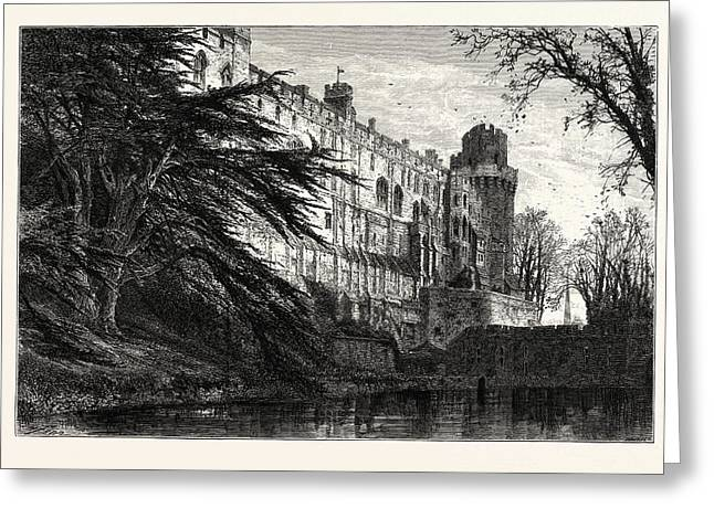 Warwick Castle, From The West, Uk, Britain Greeting Card