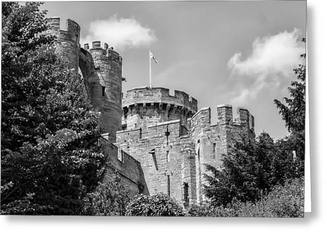 Warwick Castle Greeting Card by Georgia Fowler