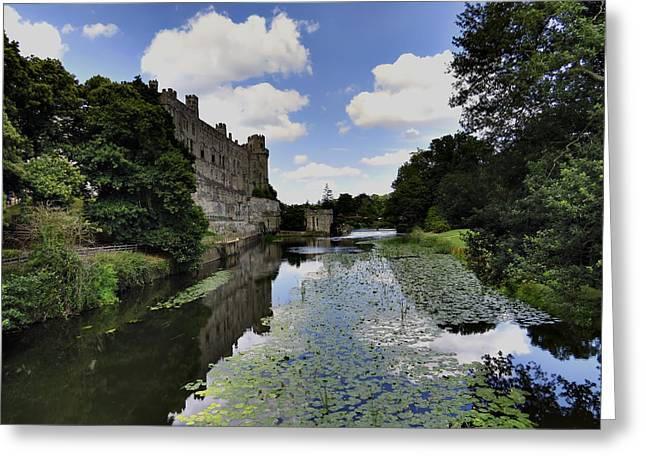 Warwick Castle Greeting Card by Ron Grafe
