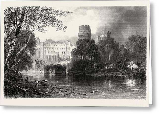 Warwick Castle, Uk, Great Britain, United Kingdom Greeting Card
